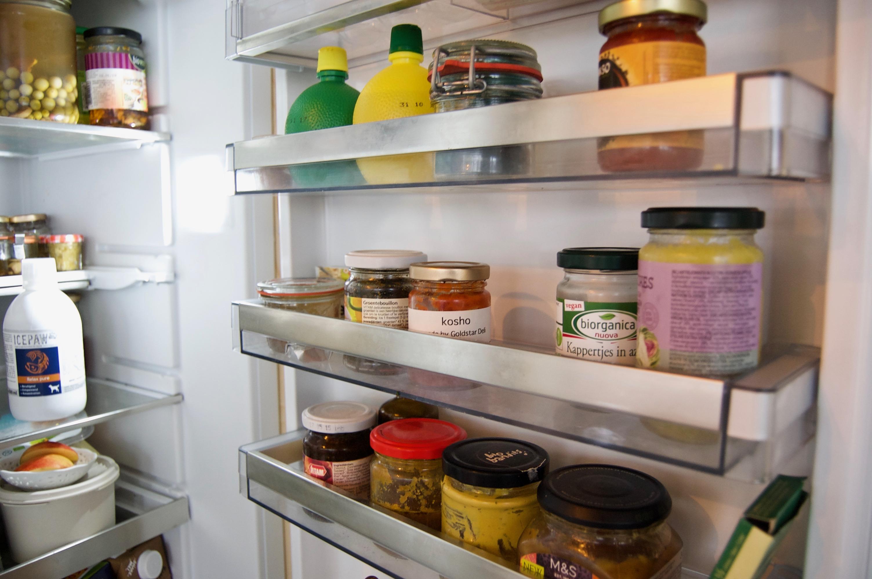 inhoud vegan koelkast
