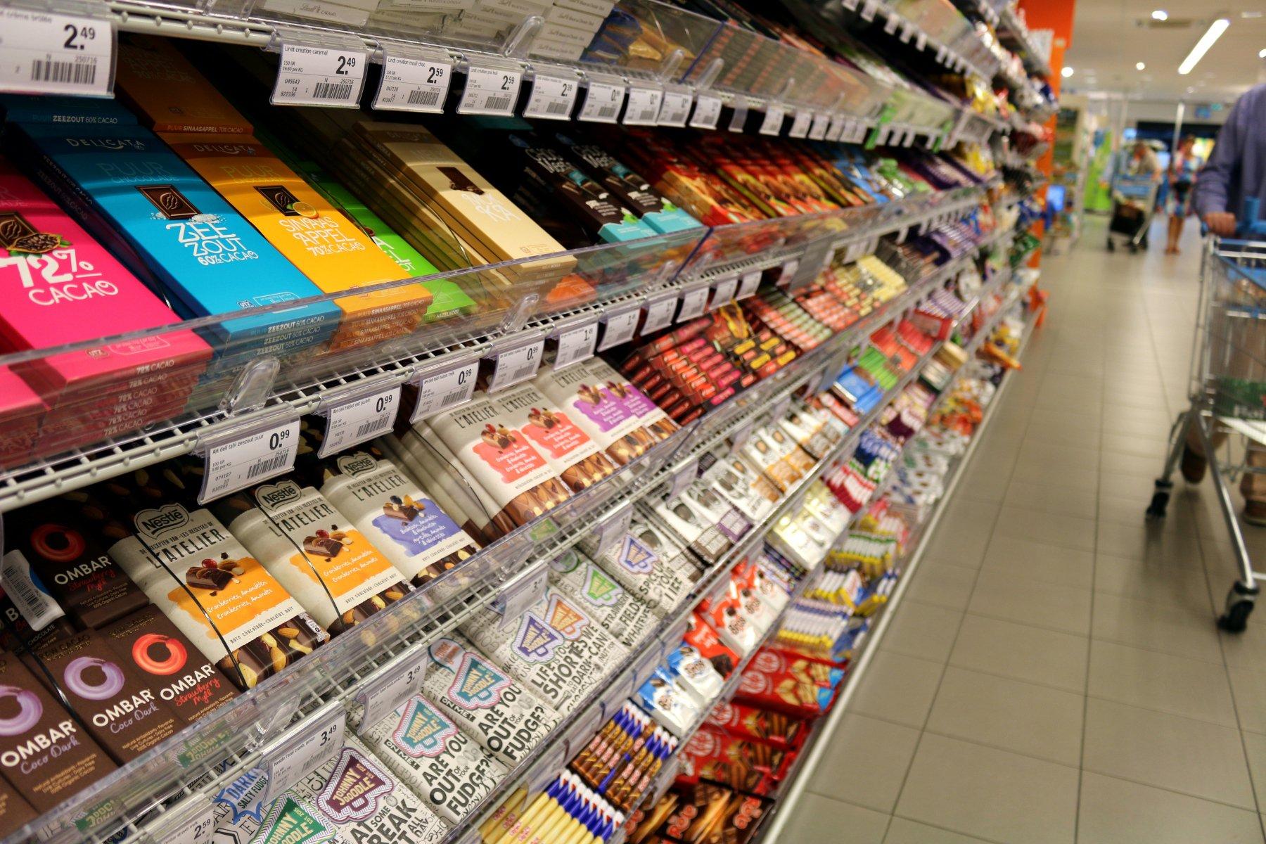 chocolade uit de supermarkt