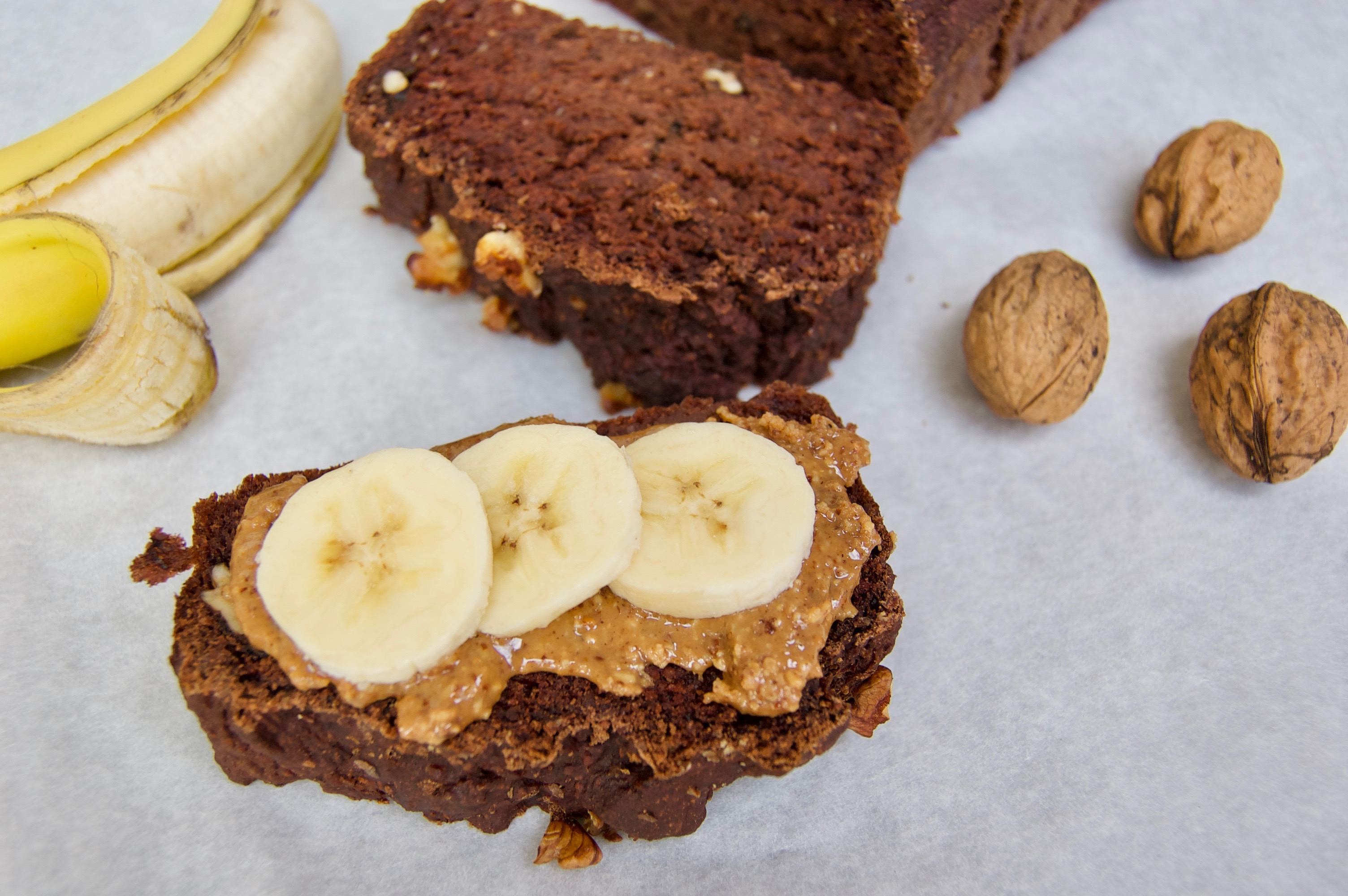 vegan bananen chocolade brood
