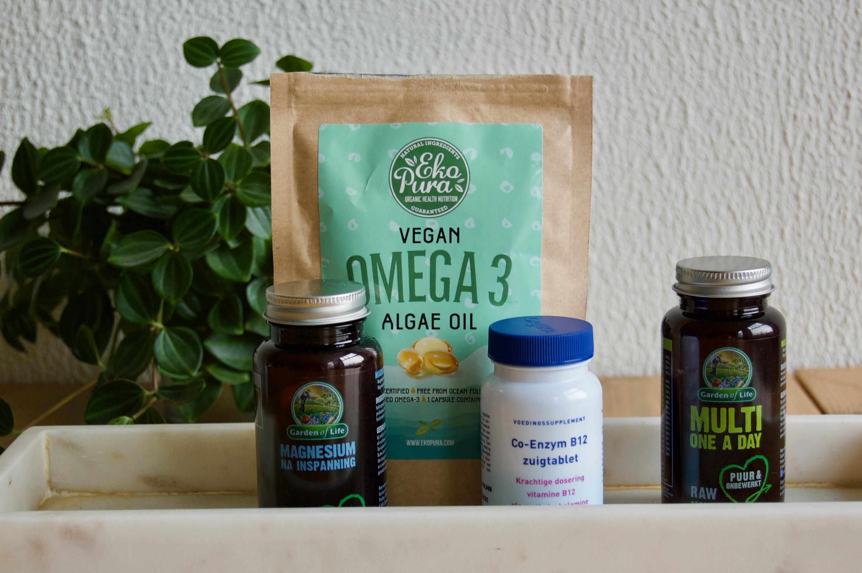 welke vitaminen slikken vegans?