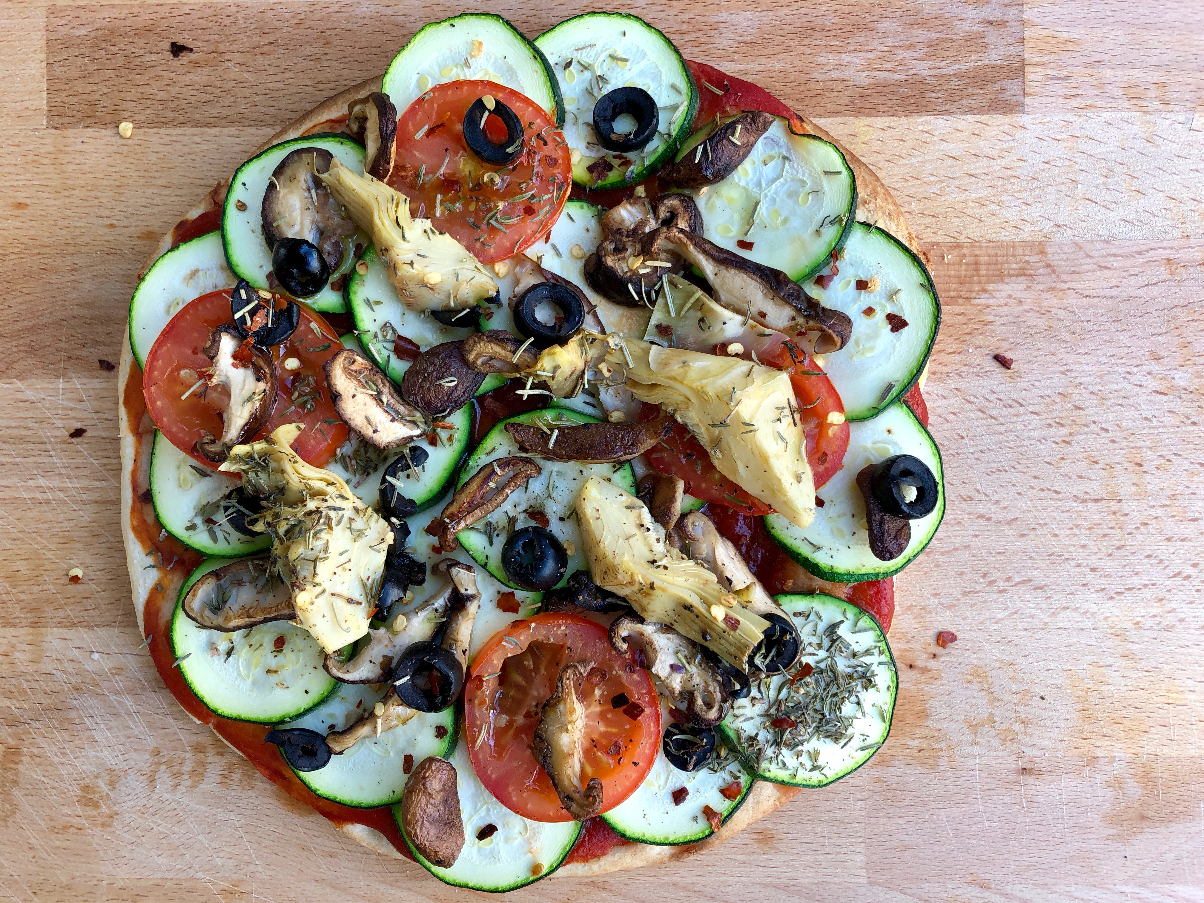 gezonde vegan pizza