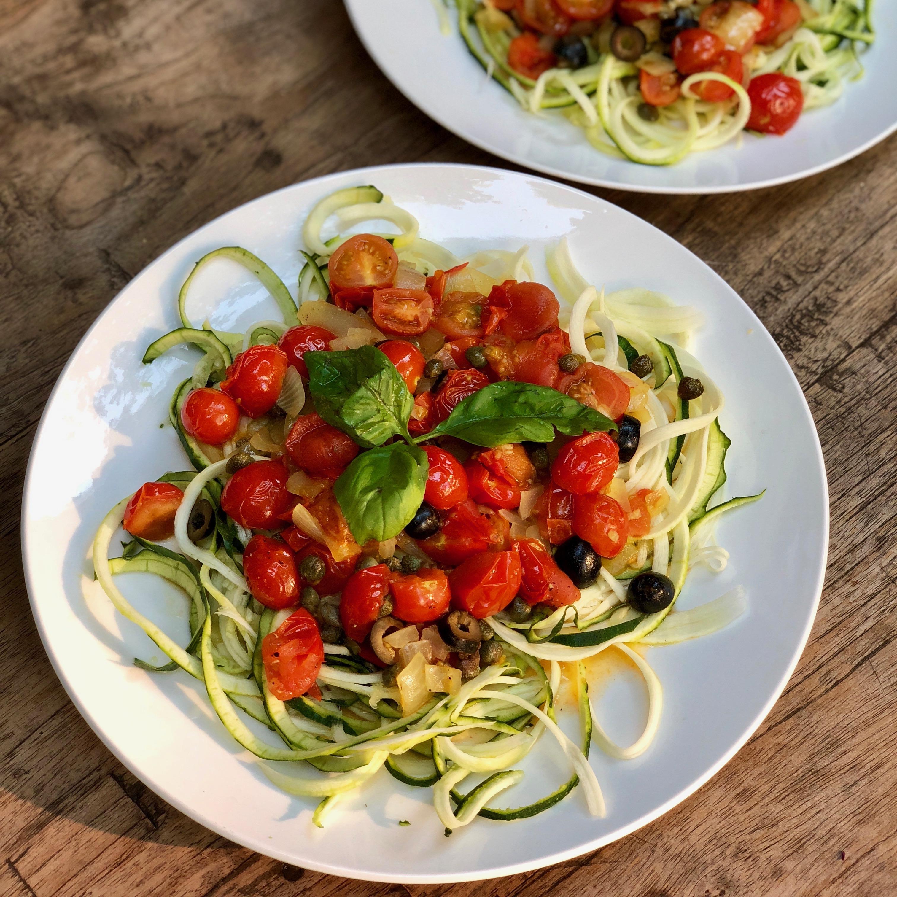 vegan pasta puttanesca